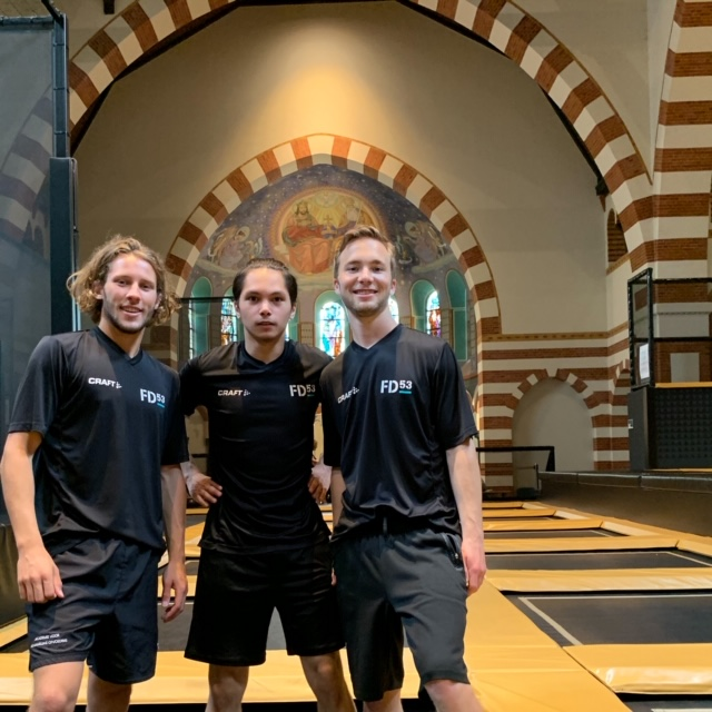Flight Deck Academy Trampolinepark Jump Instructeurs Ferry Gijs en Victor