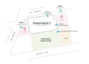 Corona Plattegrond Flight Deck 53 Trampolinepark Hilversum